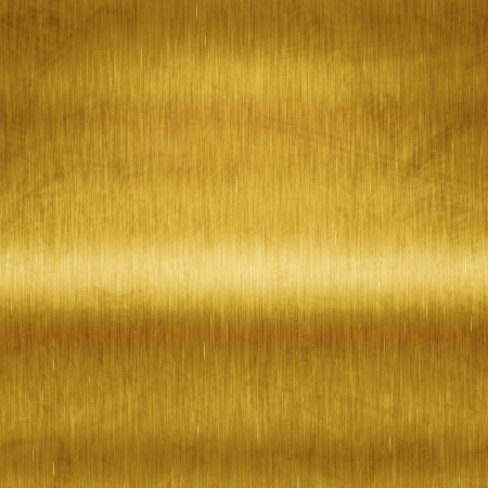 An image of a brushed metal gold plate background Stock Photo - 14082183