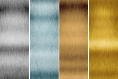An image of a brushed metal plate background photo