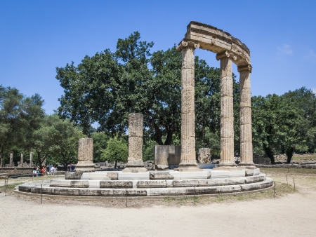 peloponnese: An image of the famous heritage Olympia in Greece