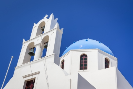 An image of a nice Santorini view with church photo