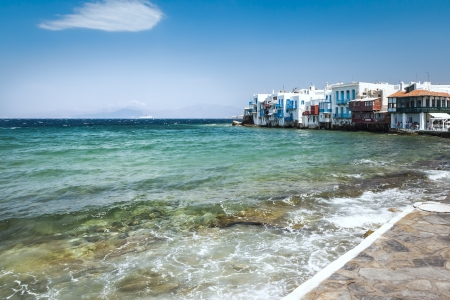 An image of the beautiful island Mykonos Greece photo