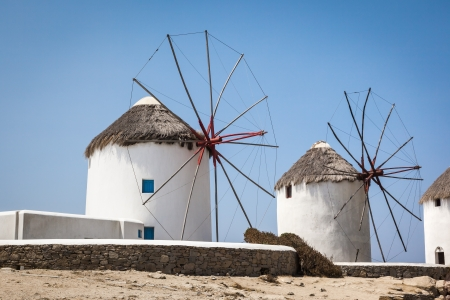 An image of a nice wind mill at Myconos Greece photo