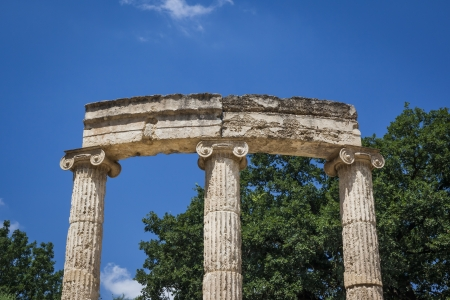 An image of the famous heritage Olympia in Greece photo