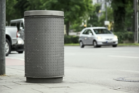 An image of a street bin in Munich