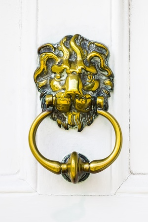 An image of a door knocker in England photo