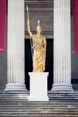 roman column: An image of a nice golden statue Stock Photo