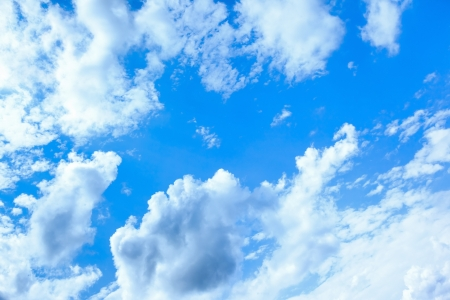 open air: An image of a bright blue sky background