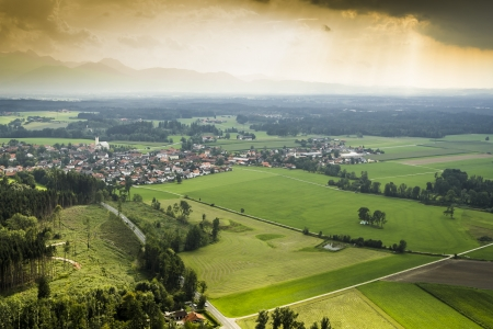 An image of a panoramic aerial view Bavaria photo