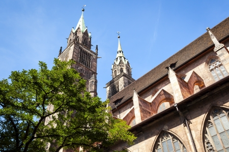 An image of the St. Lorenz Church Nuremberg Bavaria Germany photo