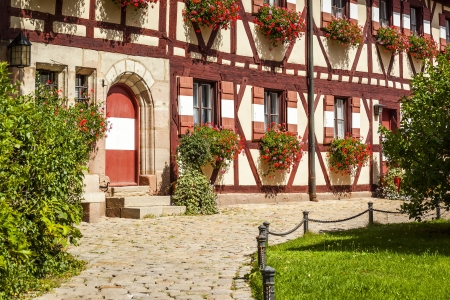 bayern old town: An image of a medieval building in Nuremberg Bavaria Germany