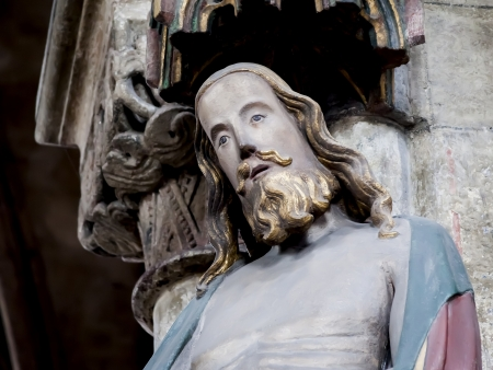 An image of an old Jesus statue in Nuremberg Bavaria Germany photo