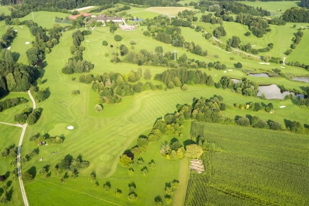 An image of a flight over the bavarian landscape photo