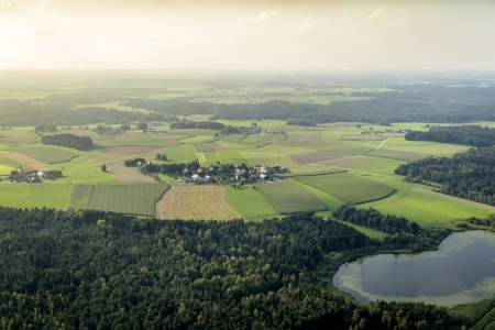 An image of a flight over the bavarian landscape Stock Photo - 15216266