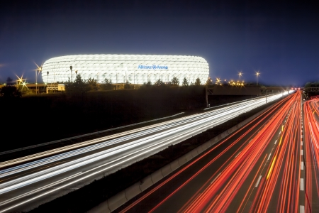 An image of the Allianz Arena in Munich Bavaria Germany 에디토리얼