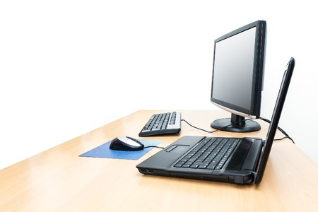 An image of a desktop with notebook background Stock Photo - 15046550