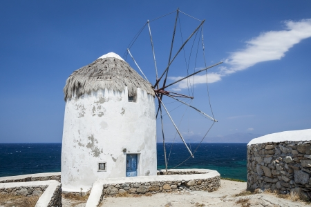 small town life: An image of the beautiful island Mykonos Greece