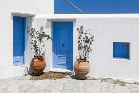 mediterranean home: An image of the beautiful island Mykonos Greece
