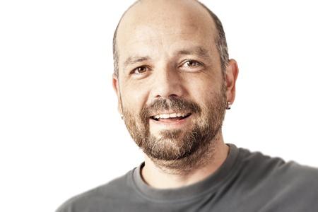 actitud positiva: Una imagen de un hombre guapo, con barba Foto de archivo