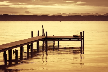 quiet scenery: An image of the Starnberg Lake in Germany