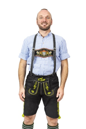 male costume: An image of a traditional bavarian man