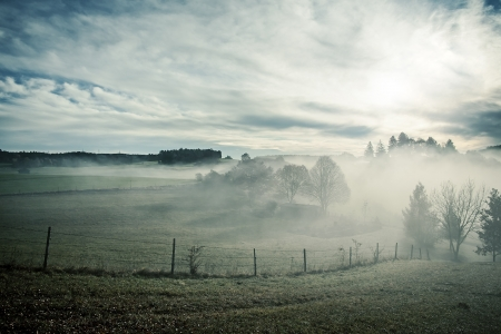 An image of a nice misty scenery