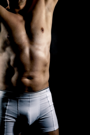 briefs: An image of a body of a middle age man