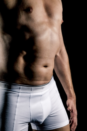 An image of a body of a middle age man photo