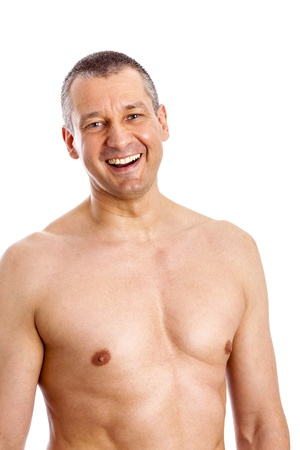 An image of a body of a middle age man