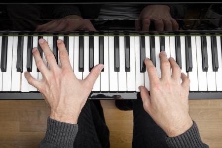 teclado de piano: Una imagen de un fondo de tocar el piano