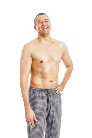 An image of a nice man in pajamas photo