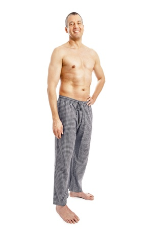 flannel: An image of a nice man in pajamas Stock Photo