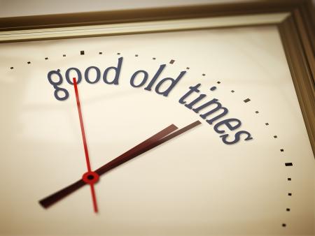 old times: Una imagen de un bonito reloj con buenos viejos tiempos