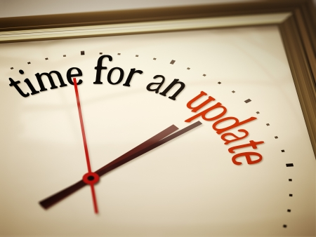 change business: An image of a nice clock with time for an update