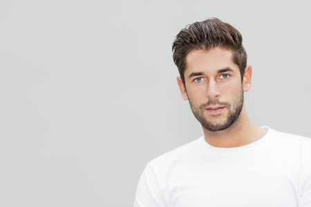 human hair: An image of a handsome young male portrait with space for your content