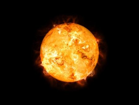 sol: Una imagen de un sol frío en el espacio Foto de archivo