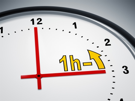 period of time: An image of a nice clock showing daylight saving time