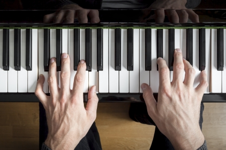 pianist: An image of a piano playing background