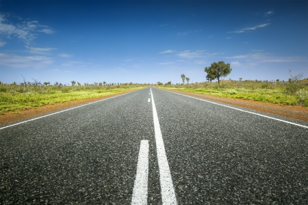 route desert: Une image d'une route dans le d�sert australien Banque d'images