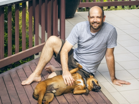 An image of a man and his dog Stock Photo - 15993446