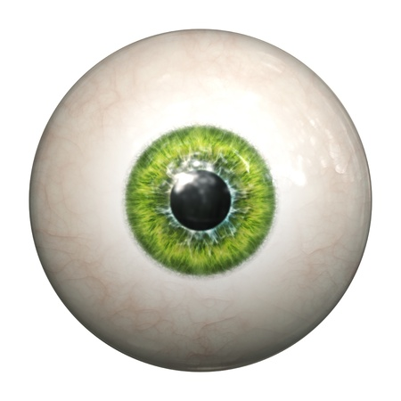 An image of an isolated green eyeball
