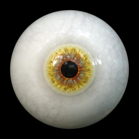 An image of a scary halloween eyeball photo