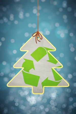 recycle tree: An image of a nice christmas recycling sign