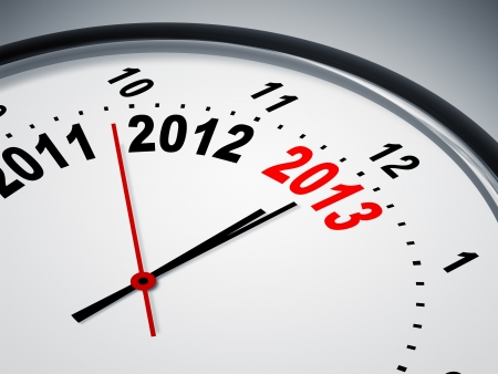 An image of a nice clock with 2011 2012 2013 Stock Photo - 16103397