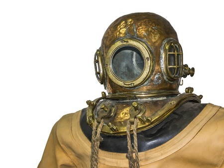 divers: An image of an old diving suit