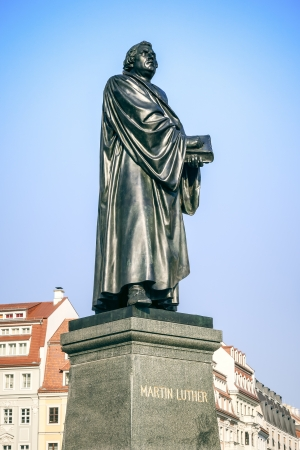 luther: An image of the Martin Luther statue in Dresden Germany