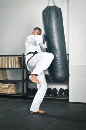 An image of a boxing man in the studio photo