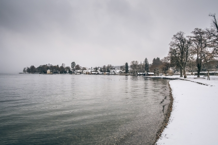 The Starnberg Lake in Bavaria Germany - Tutzing Winter Dec. 2012 photo
