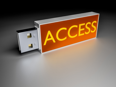 An image of the nice usb drive with the word access photo