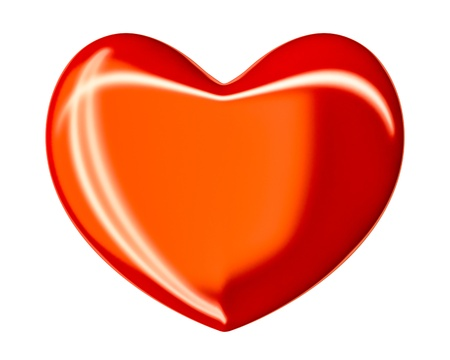 An image of a nice isolated red heart Stock Photo - 17709452