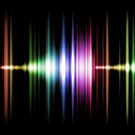 An image of a nice and colorful sound graphic